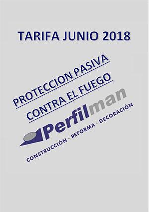 tarifas proteccion pasiva contra fuego