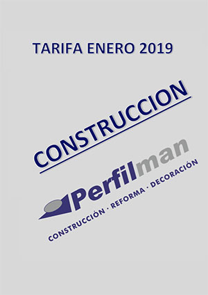 tarifas construccion 2019