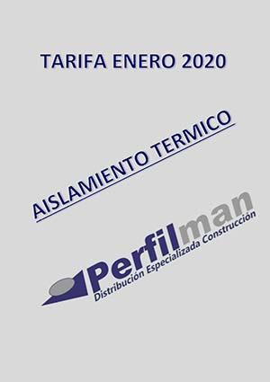 tarifas aislamiento termico 2020