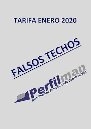 tarifas falsos techos 2020